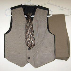 Other - Boys 3 3T Vest Tie Pants 3pc Set Spring Easter